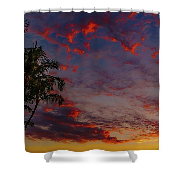 Warm Sky Shower Curtain