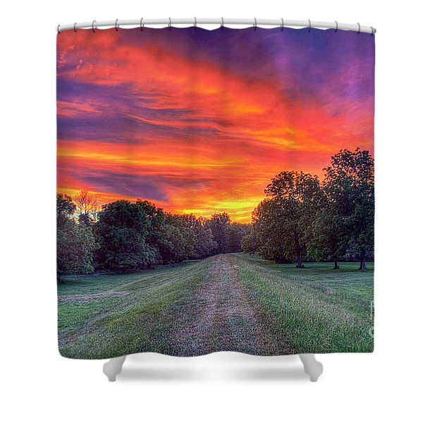 Warm Summer Night Shower Curtain