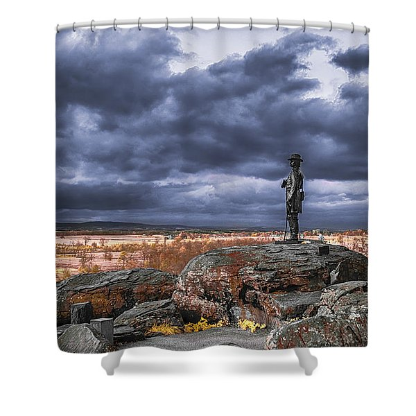Warren In Infrared Shower Curtain