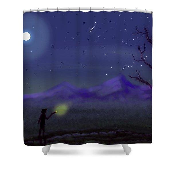 Watching Shooting Stars Shower Curtain