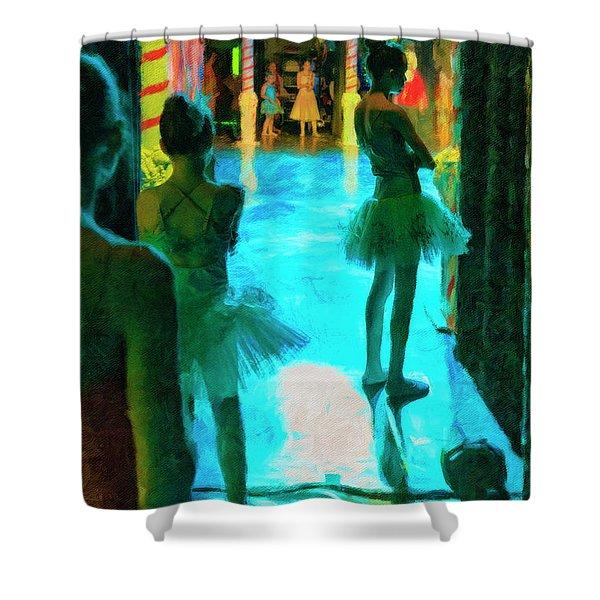 Watching The Prima Dona Shower Curtain