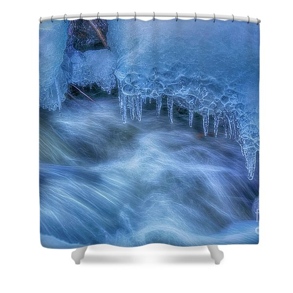 Water And Ice 6 Shower Curtain
