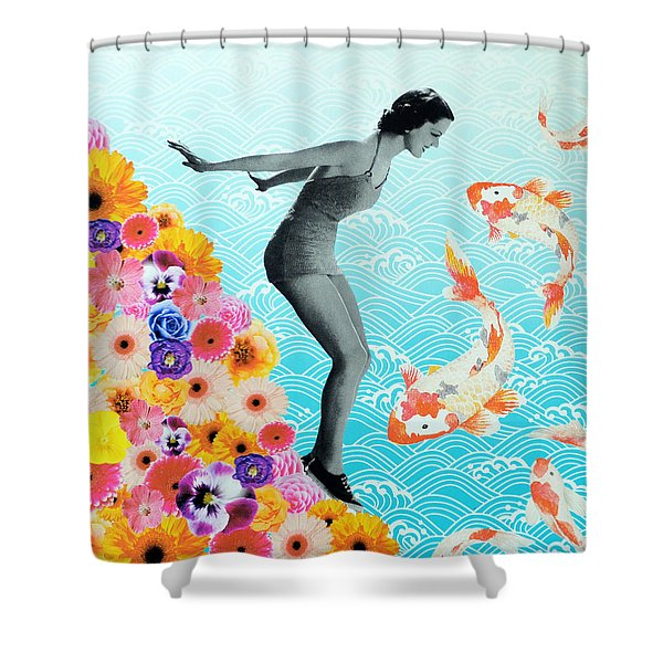 Water Baby Shower Curtain