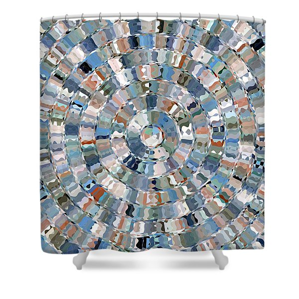 Water Mosaic Shower Curtain