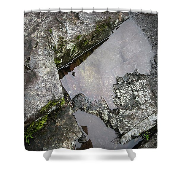 Shower Curtain featuring the photograph Water On The Rocks 2 by Juan Contreras