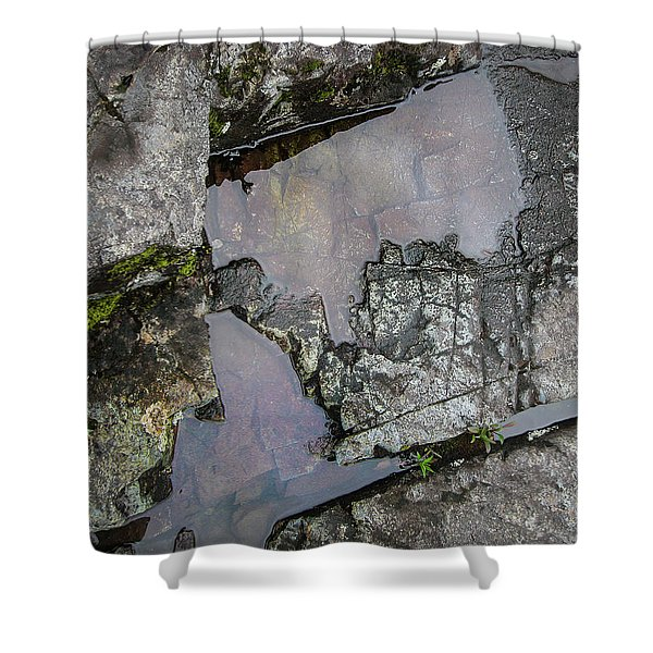 Shower Curtain featuring the photograph Water On The Rocks 3 by Juan Contreras