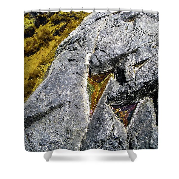 Shower Curtain featuring the photograph Water On The Rocks 8 by Juan Contreras