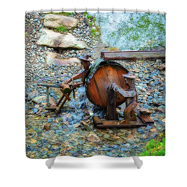 Water Workers Shower Curtain
