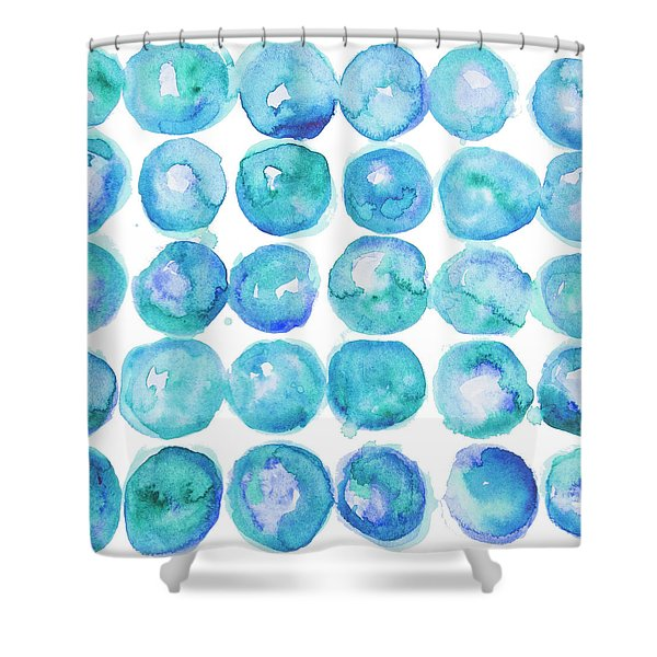 Watercolor Dots Shower Curtain