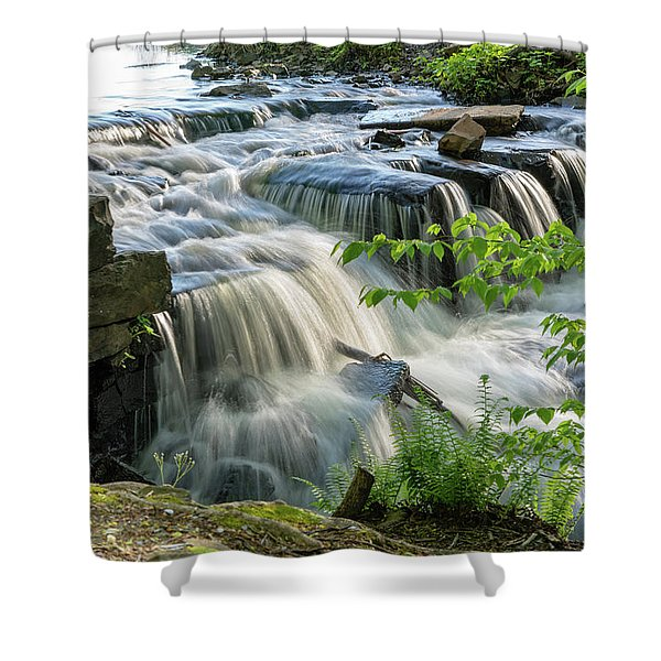 Waterfall At The Old Mill  Shower Curtain