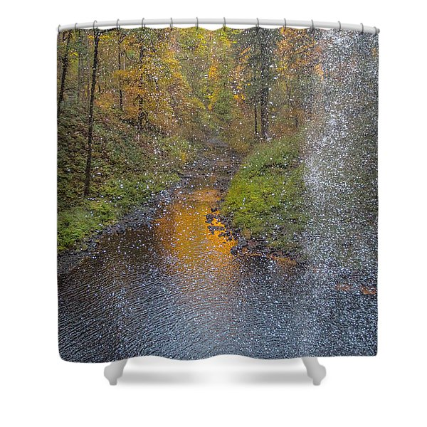 Waterfall Waterdrops Shower Curtain