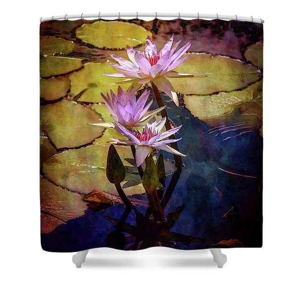 Waterlily Bouquet 2922 Idp_6 Shower Curtain
