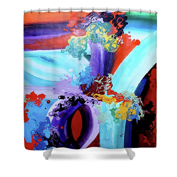 Watery Waves Shower Curtain