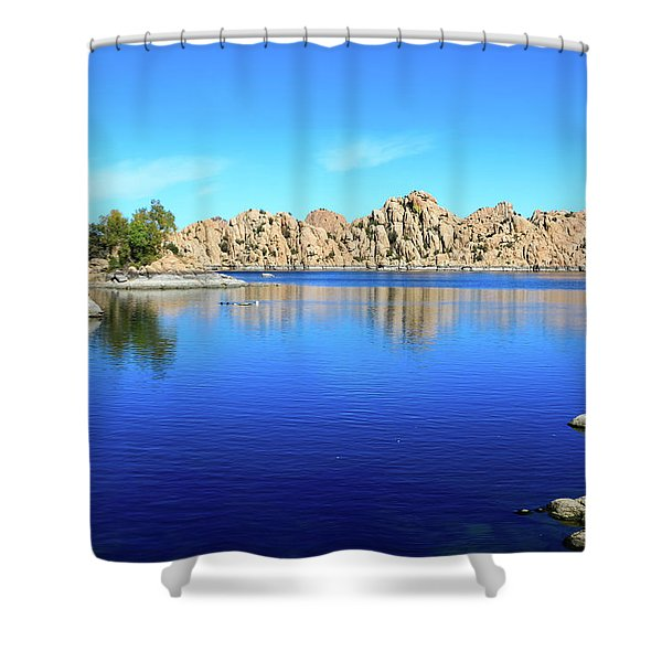 Watson Lake And Rock Formations Shower Curtain