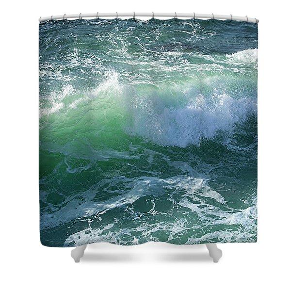 Wave At Montana De Oro Shower Curtain