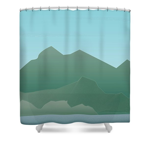 Wave Mountain Shower Curtain