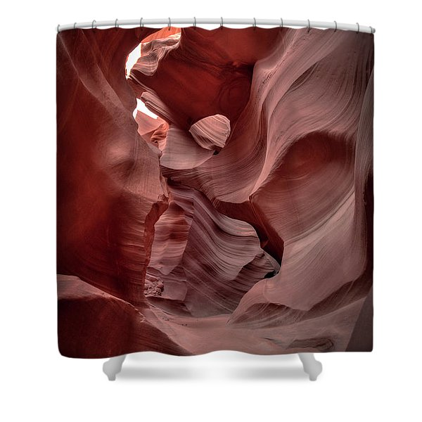 Waves And Curls Shower Curtain