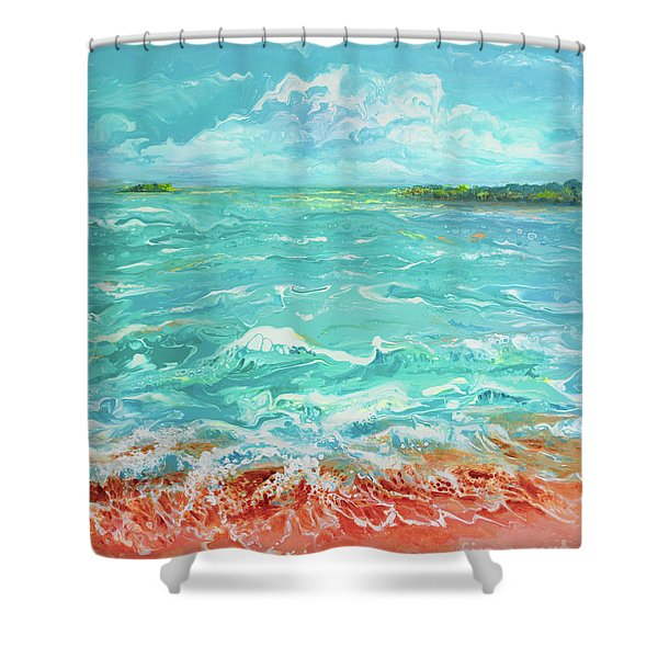 Waves At Sombrero Beach Shower Curtain