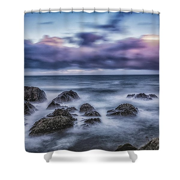 Waves At The Shore Shower Curtain