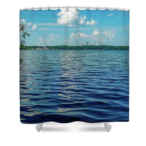 Waves On Lake Harriet Shower Curtain