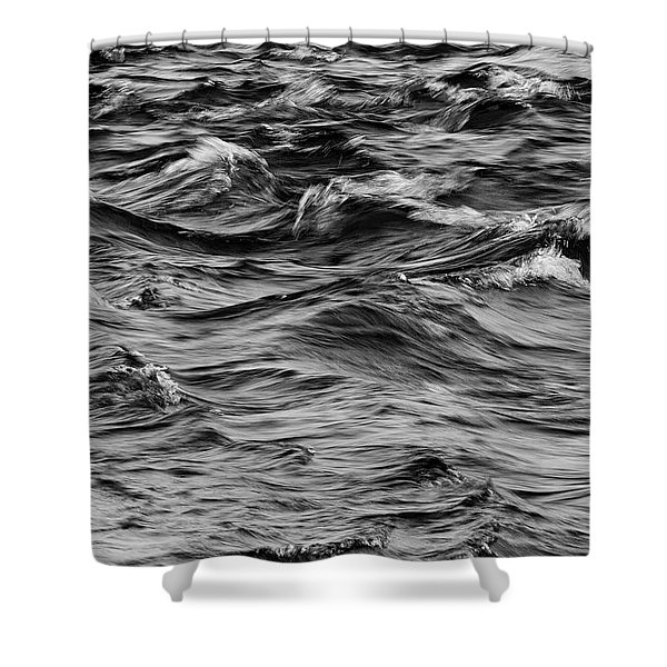 Waves On The Delaware Shower Curtain