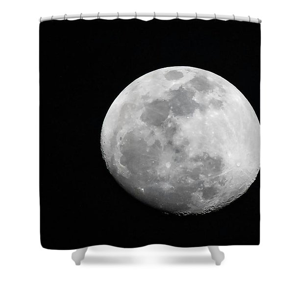 Waxing Gibbous Shower Curtain