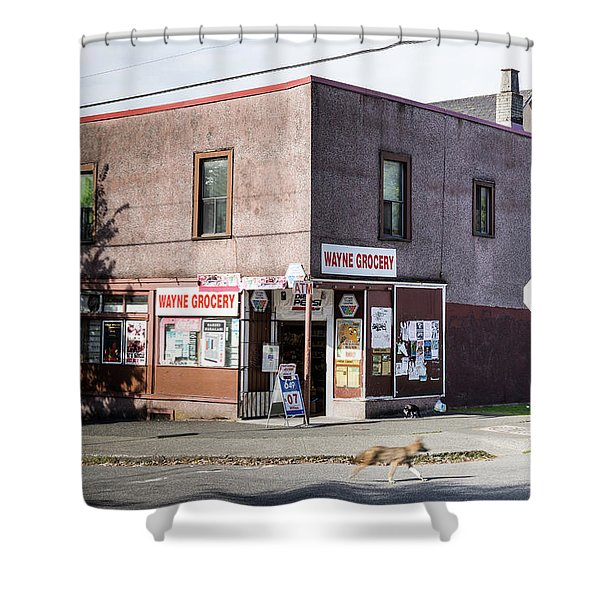 Shower Curtain featuring the photograph Wayne Grocery by Juan Contreras