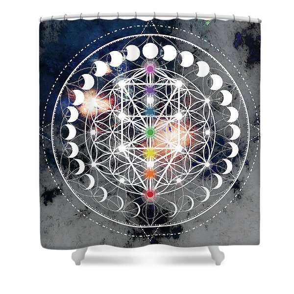 Shower Curtain featuring the digital art We Are Beings Of Light by Bee-Bee Deigner