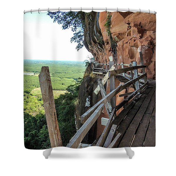We Take Our Guests Here If They Are Brave Enough Shower Curtain