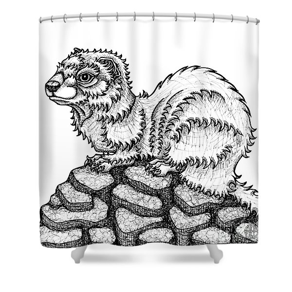 Weasel Shower Curtain