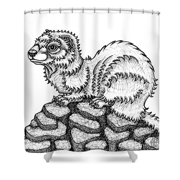 Weasel Shower Curtain