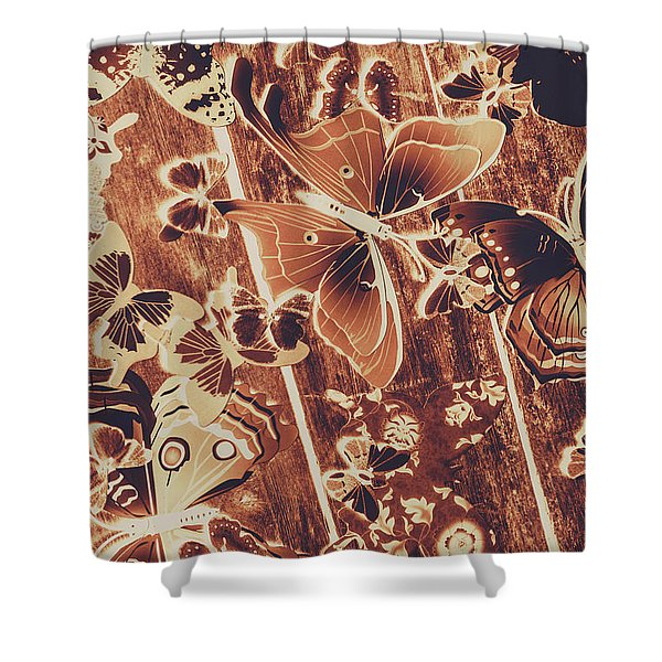 Weathered Wings Shower Curtain