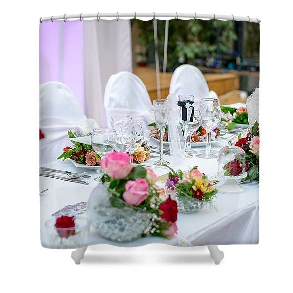 Wedding Table Shower Curtain