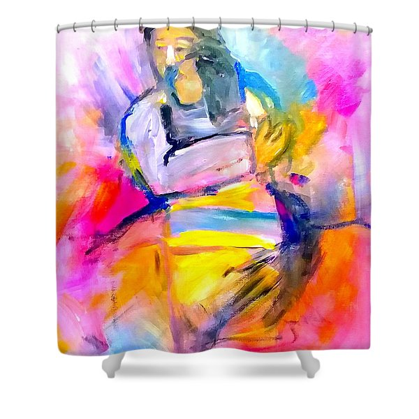 Shower Curtain featuring the painting Welcome Home by Deborah Nell