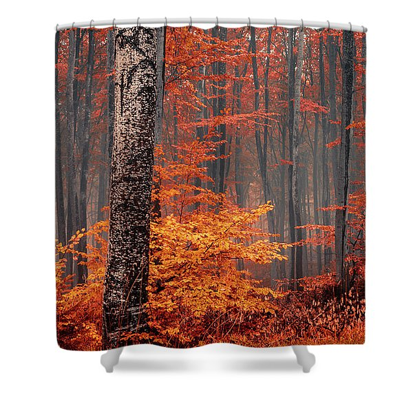 Welcome To Orange Forest Shower Curtain