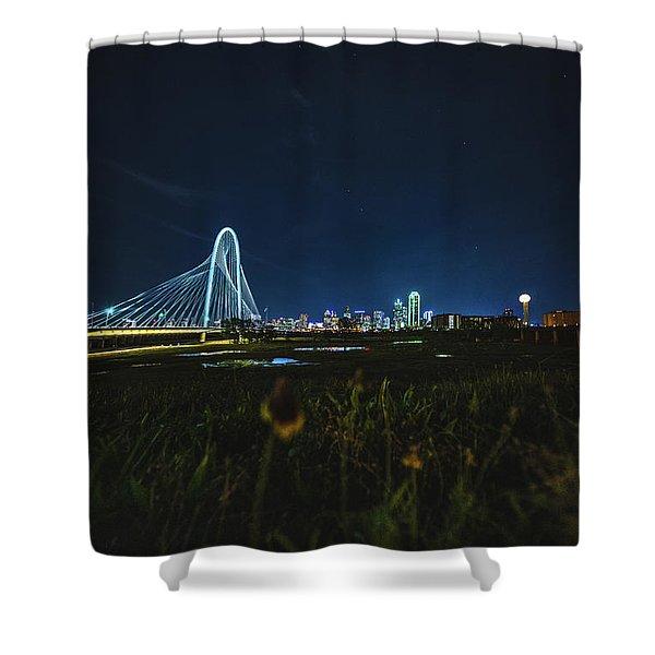 West Dallas Flower Shower Curtain