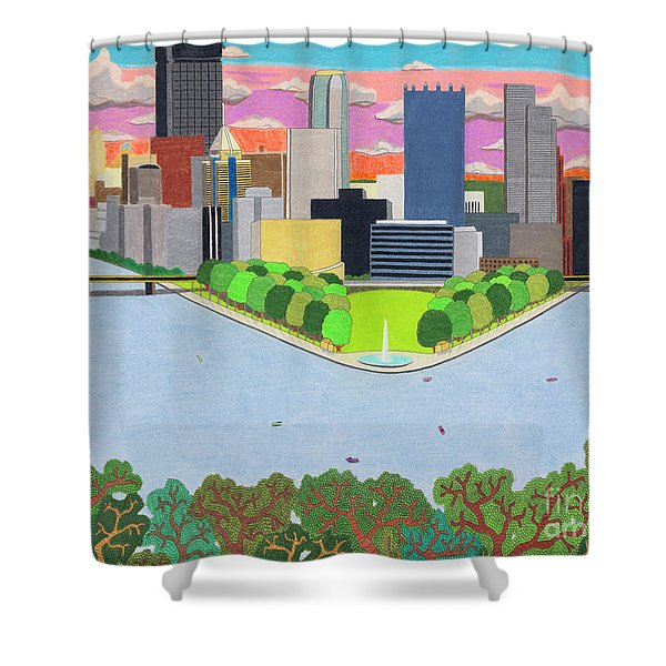 West End Overlook Shower Curtain