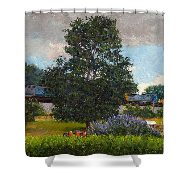 Westbound Freight, Crozet Shower Curtain