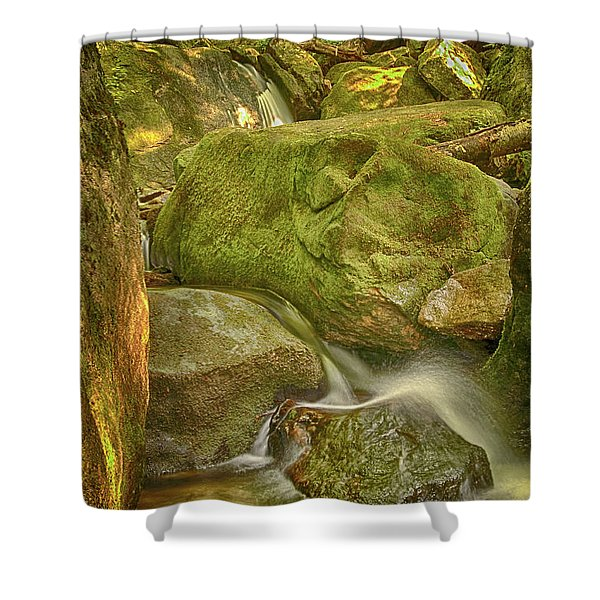 Wet Rocks Shower Curtain