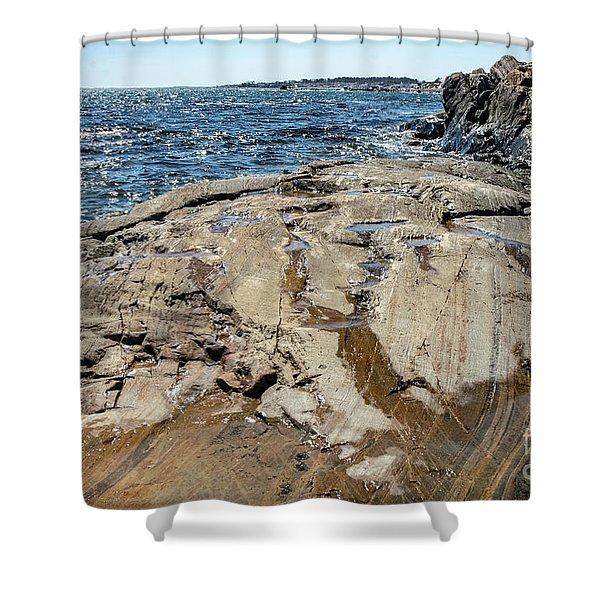 Wet Rocks Shower Curtain