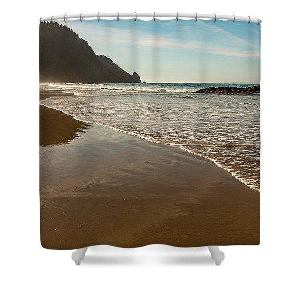 Wet Sandy Beach Shower Curtain