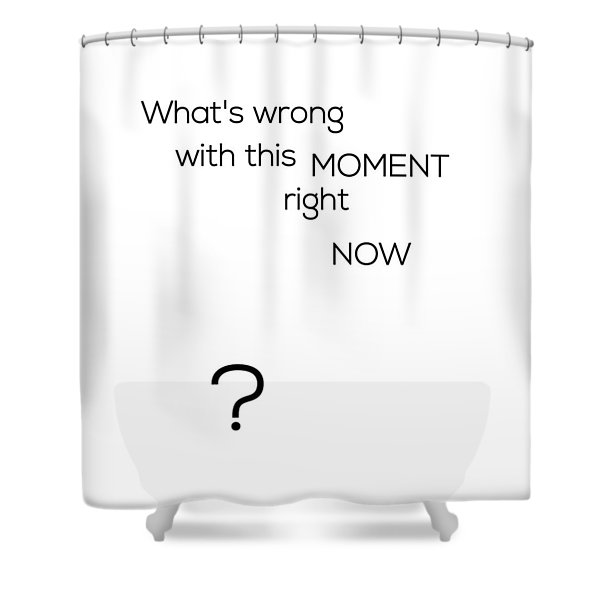 What's Wrong With This Moment Right Now - White Shower Curtain