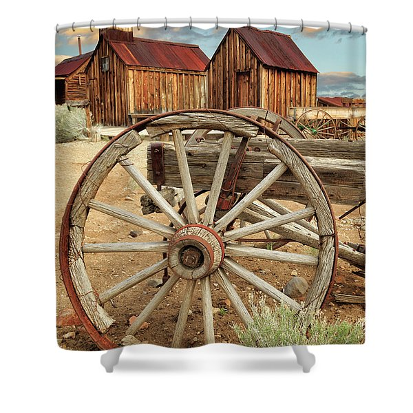 Wheels And Spokes In Color Shower Curtain