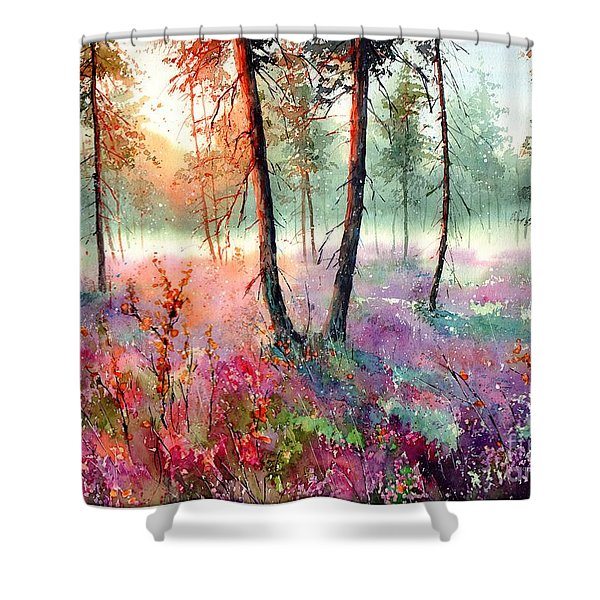When Heathers Bloom Shower Curtain