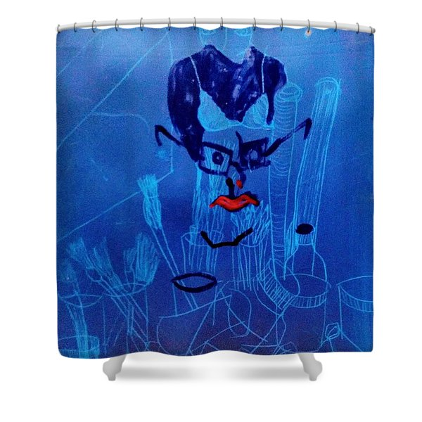 When His Face Is Blue For You Shower Curtain