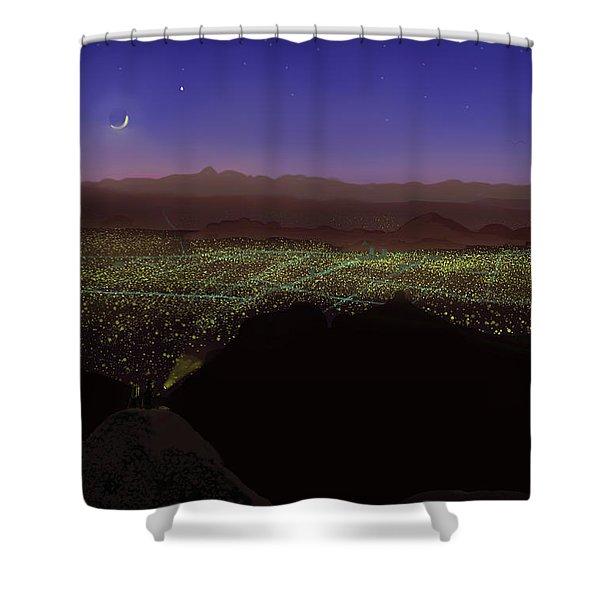 When Tucson's Lights Flicker On Shower Curtain