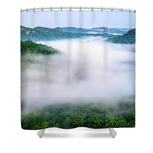 Where Eagles Fly Shower Curtain