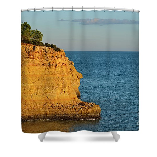 Where Land Ends In Carvoeiro Shower Curtain
