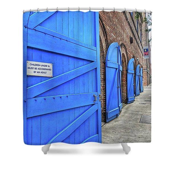 Which Blue Door Shower Curtain