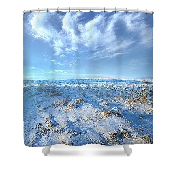 While Time Stands Still Shower Curtain